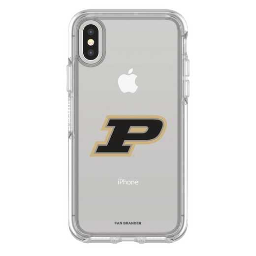 IPH-X-CL-SYM-PUR-D101: FB Purdue iPhone X Symmetry Series Clear Case