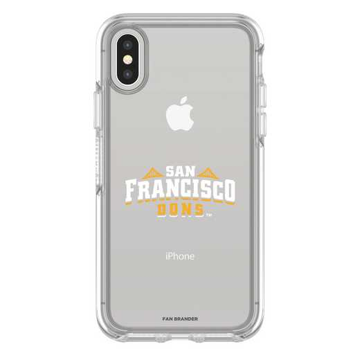 IPH-X-CL-SYM-SANF-D101: FB San Francisco iPhone X Symmetry Series Clear Case