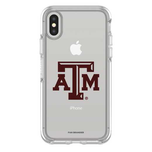 IPH-X-CL-SYM-TAM-D101: FB Texas A&M iPhone X Symmetry Series Clear Case