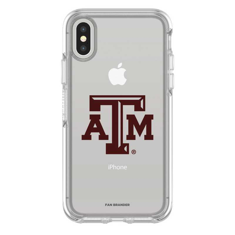 IPH-X-CL-SYM-TAM-D101: FB Texas A&M iPhone X Symmetry Series Clear Case