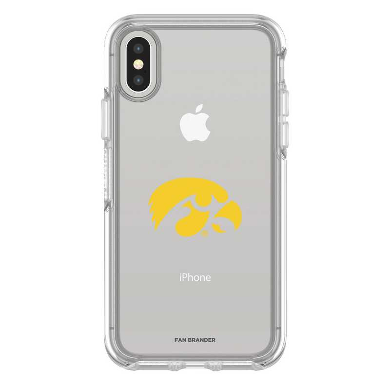 IPH-X-CL-SYM-UIA-D101: FB Iowa iPhone X Symmetry Series Clear Case