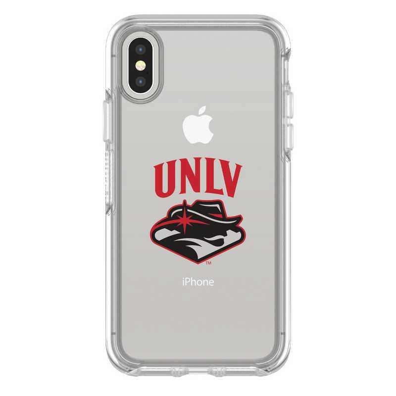 IPH-X-CL-SYM-UNLV-D101: FB UNLV iPhone X Symmetry Series Clear Case