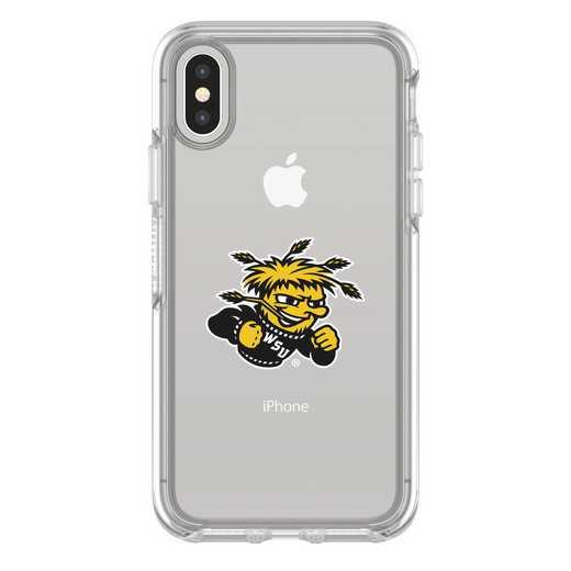 IPH-X-CL-SYM-WSU-D101: FB Wichita St iPhone X Symmetry Series Clear Case