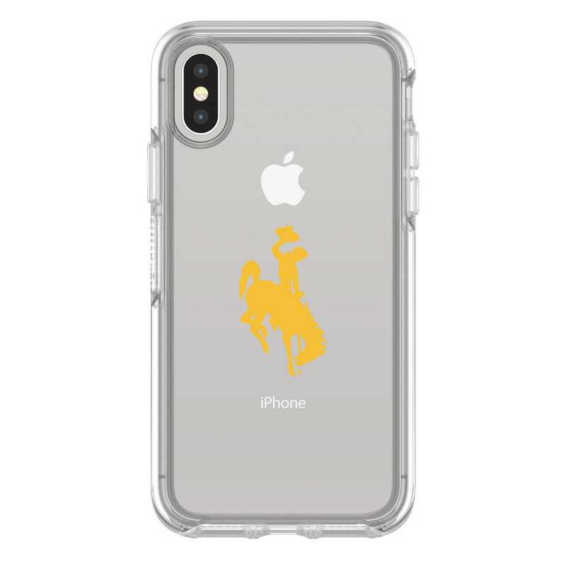 IPH-X-CL-SYM-WY-D101: FB Wyoming iPhone X Symmetry Series Clear Case