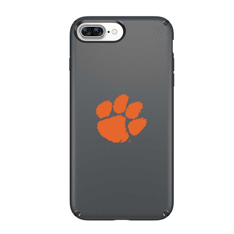 IPH-87P-BK-PRE-CL-D101: FB Clemson iPhone 8 and iPhone 7 Plus Speck Presidio