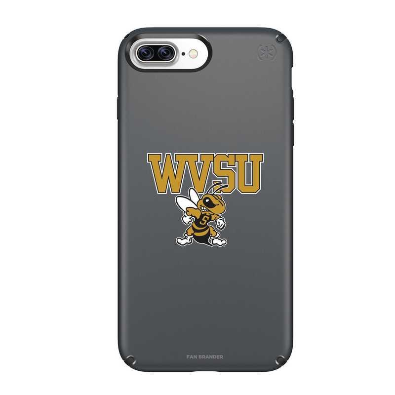 IPH-87P-BK-PRE-WVSU-D101: FB West Virginia St iPhone 8 and iPhone 7 Plus Speck Presidio