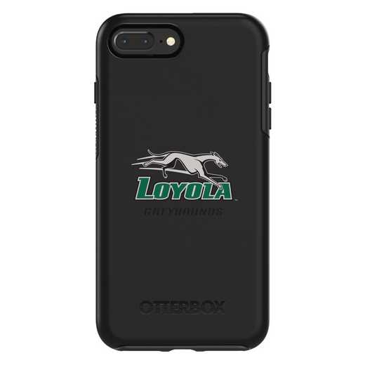 IPH-87P-BK-SYM-LUM-D101: FB Loyola Univ Of Maryland OB SYMMETRY IPN 8 PLUS/IPN 7PLUS