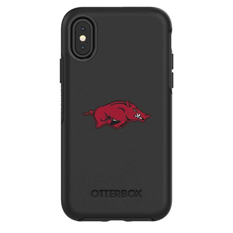 IPH-X-BK-SYM-ARK-D101: FB Arkansas iPhone X Symmetry Series Case