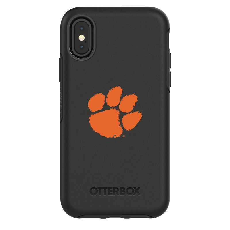IPH-X-BK-SYM-CL-D101: FB Clemson iPhone X Symmetry Series Case