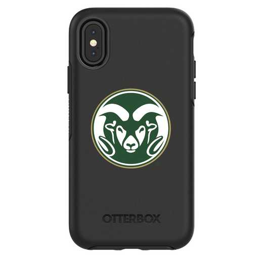 IPH-X-BK-SYM-CSU-D101: FB Colorado St iPhone X Symmetry Series Case
