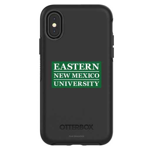 IPH-X-BK-SYM-ENMU-D101: FB Eastern New Mexico iPhone X Symmetry Series Case