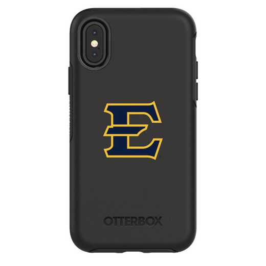 IPH-X-BK-SYM-ETSU-D101: FB Eatern Tennessee St iPhone X Symmetry Series Case