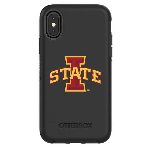 IPH-X-BK-SYM-IAS-D101: FB Iowa St iPhone X Symmetry Series Case