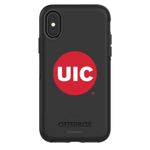 IPH-X-BK-SYM-ILC-D101: FB Illinois at Chicago iPhone X Symmetry Series Case
