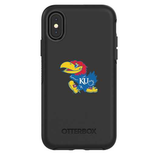 IPH-X-BK-SYM-KS-D101: FB Kansas iPhone X Symmetry Series Case