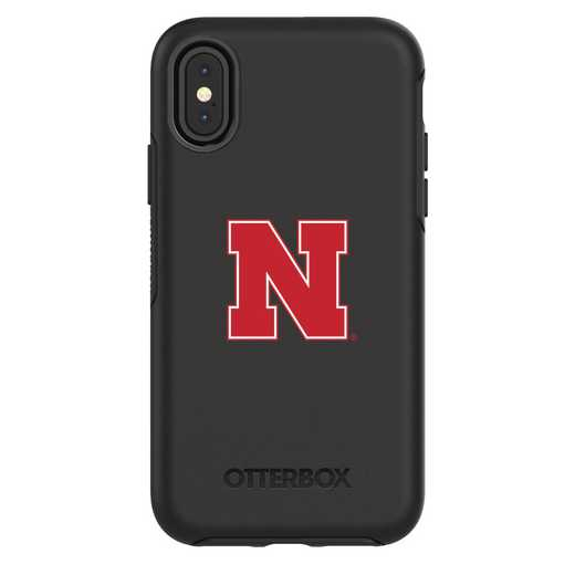 IPH-X-BK-SYM-NB-D101: FB Nebraska iPhone X Symmetry Series Case