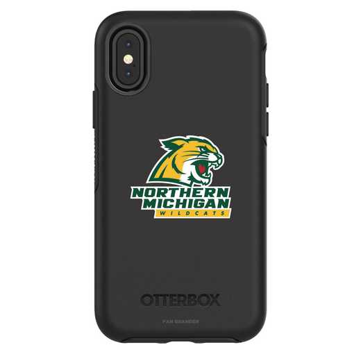 IPH-X-BK-SYM-NOMU-D101: FB Northern Michigan iPhone X Symmetry Series Case