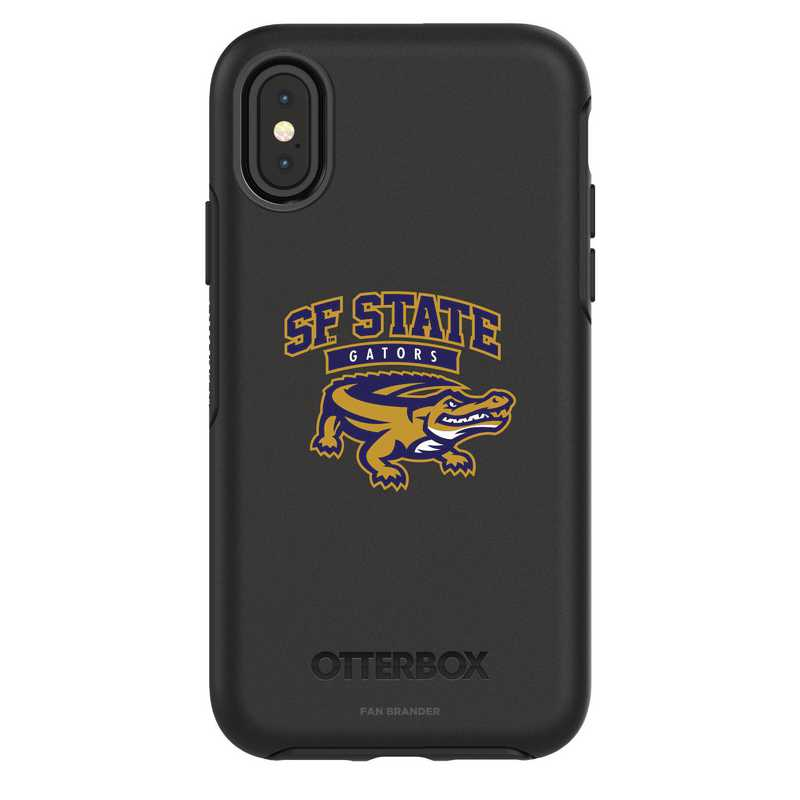 IPH-X-BK-SYM-SFSU-D101: FB San Francisco St iPhone X Symmetry Series Case