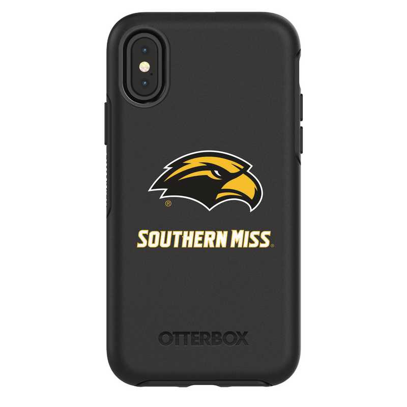 IPH-X-BK-SYM-SOMI-D101: FB Southern Mississippi iPhone X Symmetry Series Case