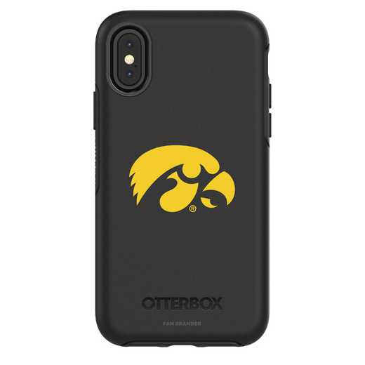 IPH-X-BK-SYM-UIA-D101: FB Iowa iPhone X Symmetry Series Case