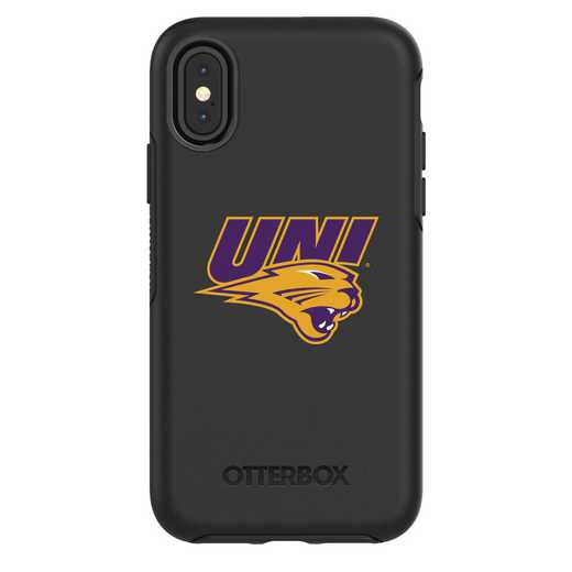 IPH-X-BK-SYM-UNI-D101: FB Northern Iowa iPhone X Symmetry Series Case