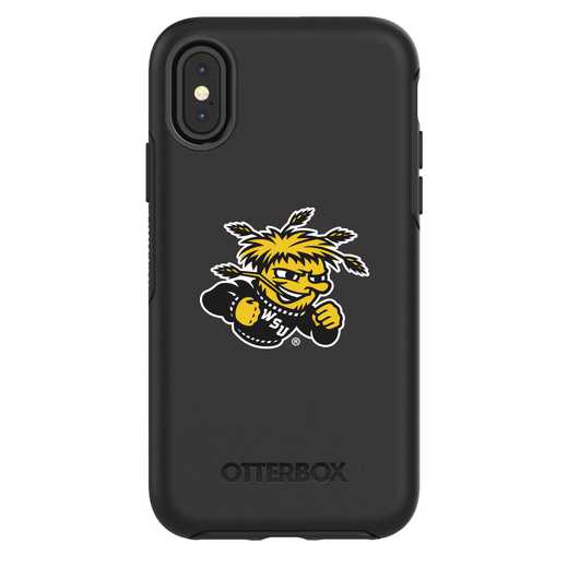 IPH-X-BK-SYM-WSU-D101: FB Wichita St iPhone X Symmetry Series Case