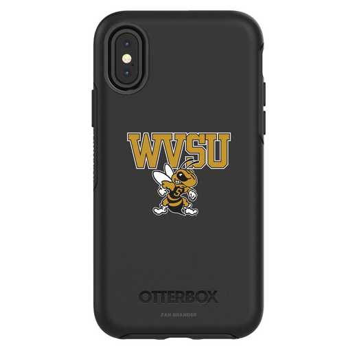 IPH-X-BK-SYM-WVSU-D101: FB West Virginia St iPhone X Symmetry Series Case