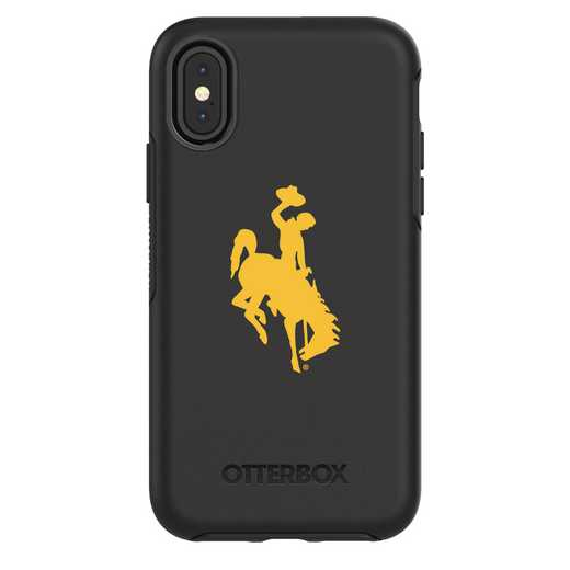 IPH-X-BK-SYM-WY-D101: FB Wyoming iPhone X Symmetry Series Case