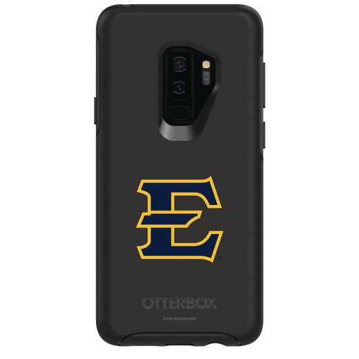 GAL-S9P-BK-SYM-ETSU-D101: FB Eatern Tennessee St OB SYMMETRY Case for Galaxy S9+