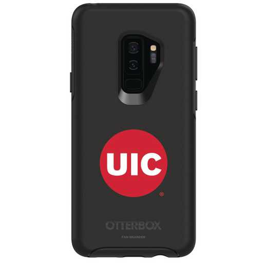 GAL-S9P-BK-SYM-ILC-D101: FB Illinois at Chicago OB SYMMETRY Case for Galaxy S9+
