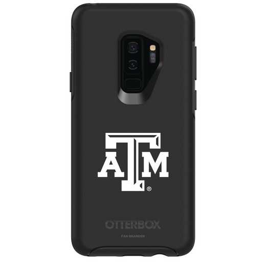 GAL-S9P-BK-SYM-TAM-D101: FB Texas A&M OB SYMMETRY Case for Galaxy S9+