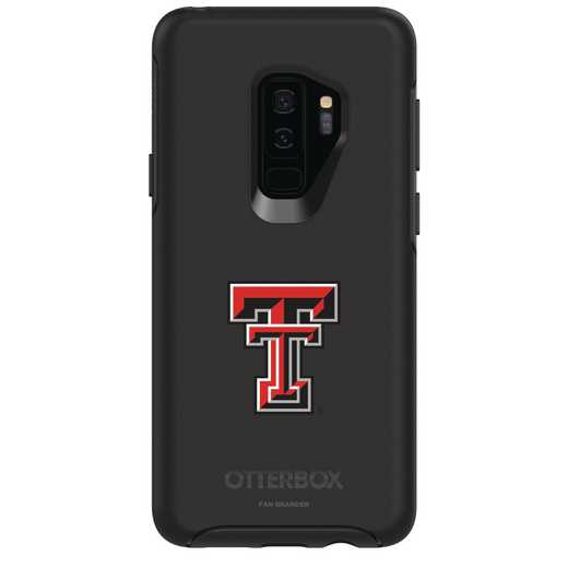 GAL-S9P-BK-SYM-TT-D101: FB Texas Tech OB SYMMETRY Case for Galaxy S9+