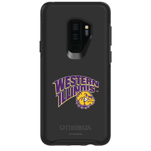 GAL-S9P-BK-SYM-WILU-D101: FB Western Illinois OB SYMMETRY Case for Galaxy S9+