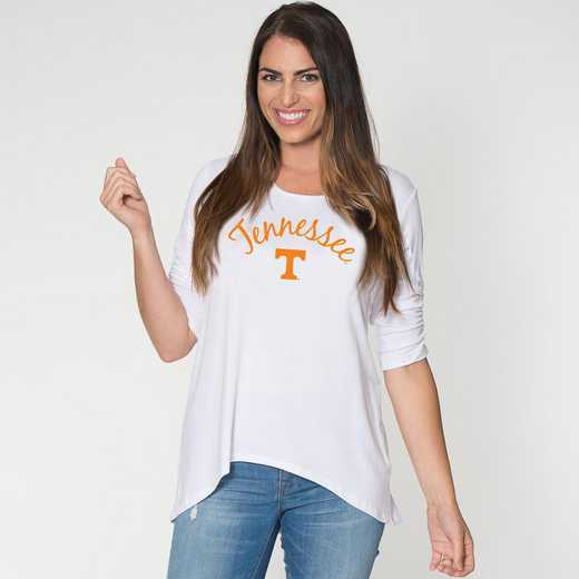 Tennesse -  Anna Hi-Lo Scrunch Sleeve Top by Flying Colors