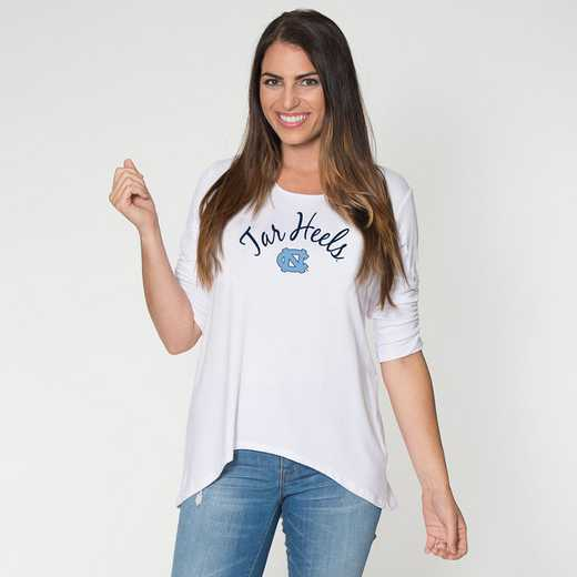 UNC - Anna Hi-Lo Scrunch Sleeve Top by Flying Colors