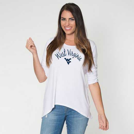 West Virginia- Anna Hi-Lo Scrunch Sleeve Top by Flying Colors