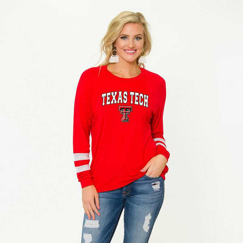 Texas Tech- Jennifer Long Short Sleeve Gameday Jersey by Flying Colors