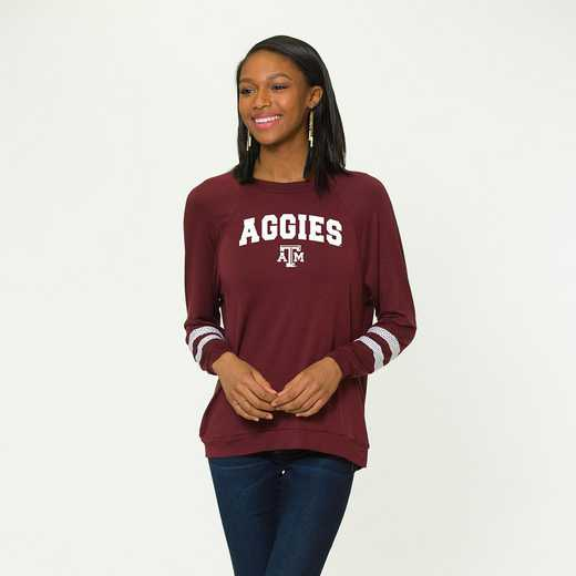 Texas A&M-Jennifer Long Sleeve Gameday Jersey by Flying Colors