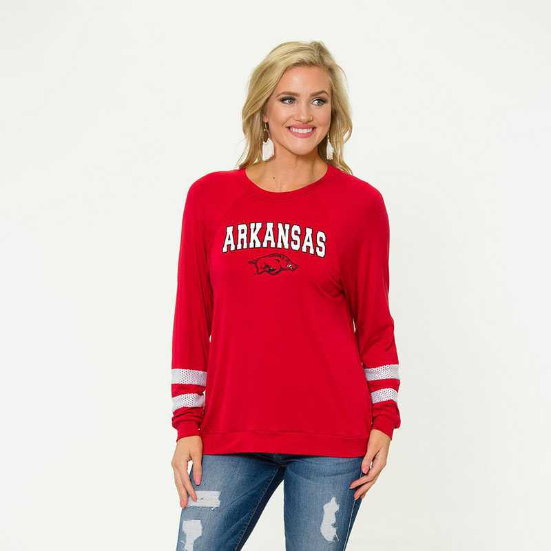 Arkansas- Jennifer Long Sleeve Gameday Jersey by Flying Colors