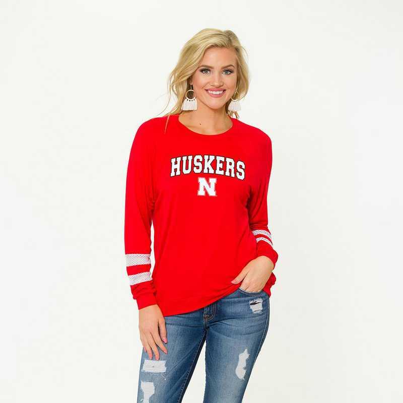 Nebraska-Jennifer Long Sleeve Gameday Jersey by Flying Colors