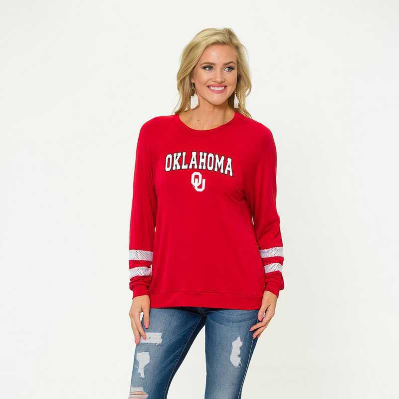 Oklahoma-Jennifer Long Sleeve Gameday Jersey by Flying Colors