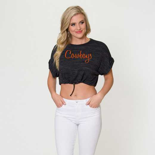 Oklahoma State  Kara Crop Top by Flying Colors