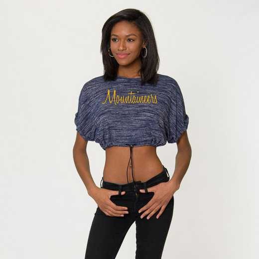 West Virginia Kara Crop Top by Flying Colors