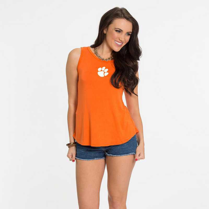 Clemson Kristi Tie-Back Tank by Flying Colors