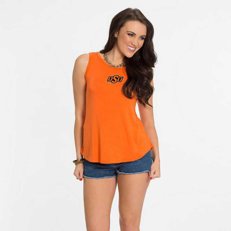 Oklahoma State Kristi Tie-Back Tank by Flying Colors