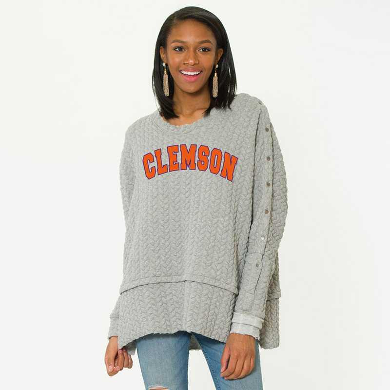 Clemson  Sasha Snap Sleeve Tunic by Flying Colors