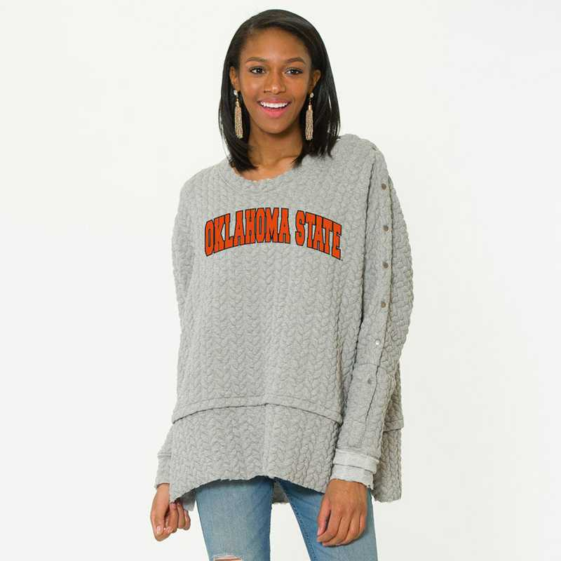 Oklahoma State   Sasha Snap Sleeve Tunic by Flying Colors