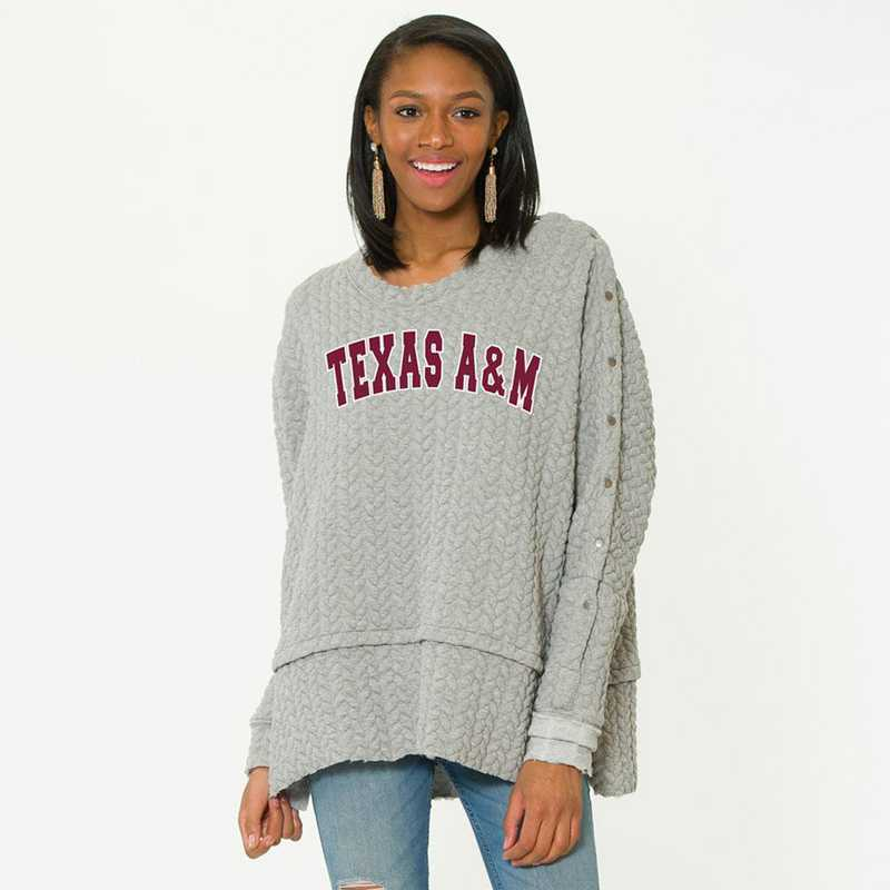 Texas A&M  Sasha Snap Sleeve Tunic by Flying Colors