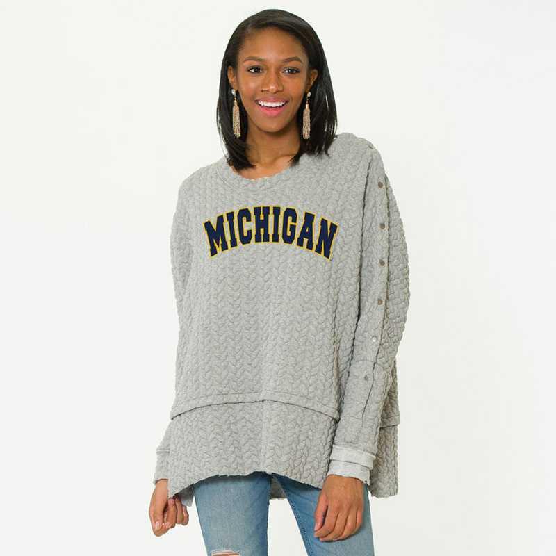 Michigan   Sasha Snap Sleeve Tunic by Flying Colors