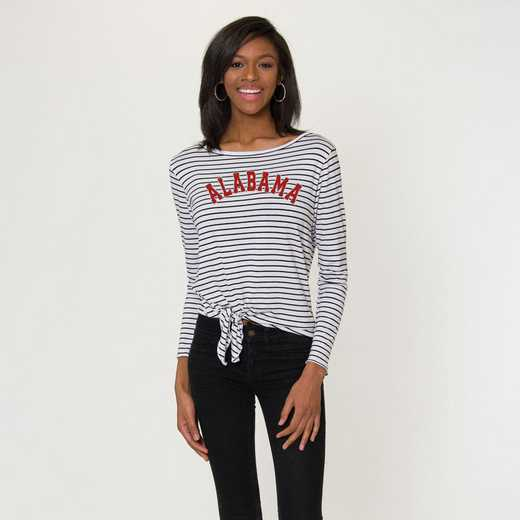 Alabama  Tara Long Sleeve Tie-Front Top by Flying Colors